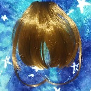 Light Golden Brown Clip-on Bangs